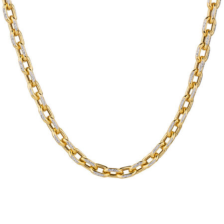 """45cm (18"""") Hollow Chain in 10kt Yellow & White Gold"""