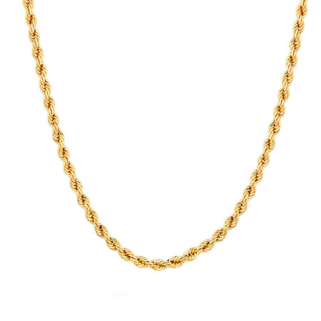 """50cm (20"""") Hollow Rope Chain in 10kt Yellow Gold"""