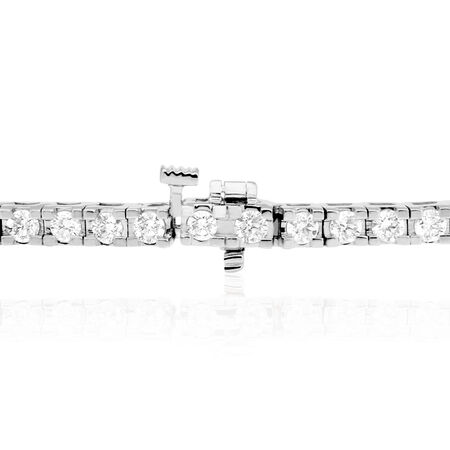 Tennis Bracelet with 4 Carat TW of Diamonds in 18kt White Gold