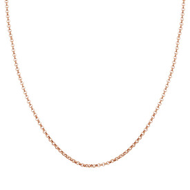 "45cm (18"") Hollow Rolo Chain in 10kt Rose Gold"