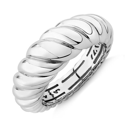 Sculpture Croissant Ring In Sterling Silver