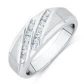 Men's Ring with 0.20 Carat TW of Diamonds in 10kt White Gold