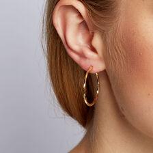 Hoop Earrings in 10kt Yellow Gold