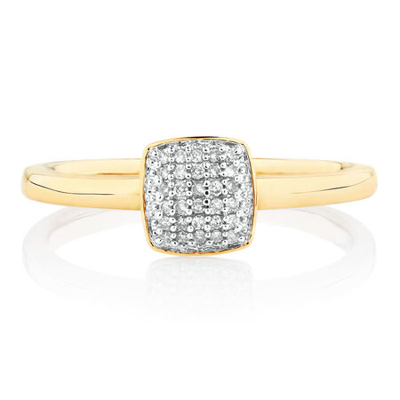 Stacker Rings with Diamonds in 10kt Yellow Gold