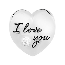 "Sterling Silver ""I Love You..."" Heart Charm"