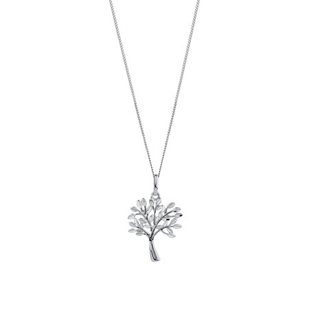 Tree of Life Pendant in 10kt White Gold