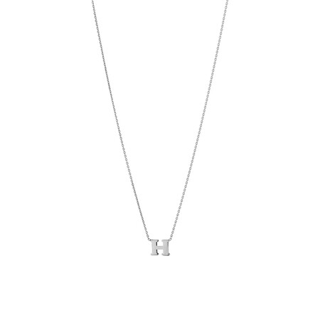 'H' Initial Necklace in Sterling Silver