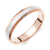 Wedding Band in 10kt White & Rose Gold