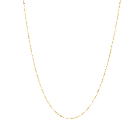 """45cm (17"""") Solid Cable Chain In 10kt Yellow Gold"""