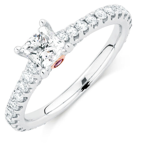 Sir Michael Hill Designer GrandAria Engagement Ring with 1.45 Carat TW of Diamonds in 14kt White Gold