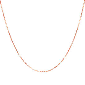"40cm (16"") Fine Rolo Chain in 10kt Rose Gold"