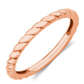 Twist Patterned Stacker Ring in 10kt Rose Gold