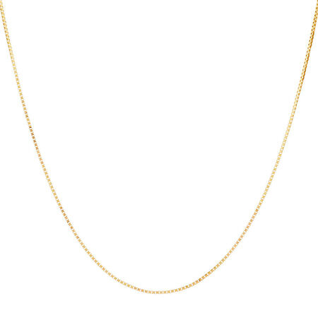 """45cm (18"""") Box Chain in 14kt Yellow Gold"""