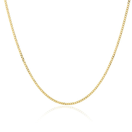 """60cm (24"""") Hollow Curb Chain in 10kt Yellow Gold"""
