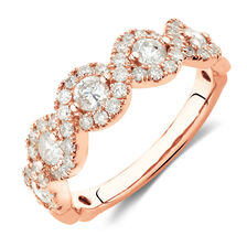 Ring with 1 Carat TW of Diamonds in 14kt Rose Gold