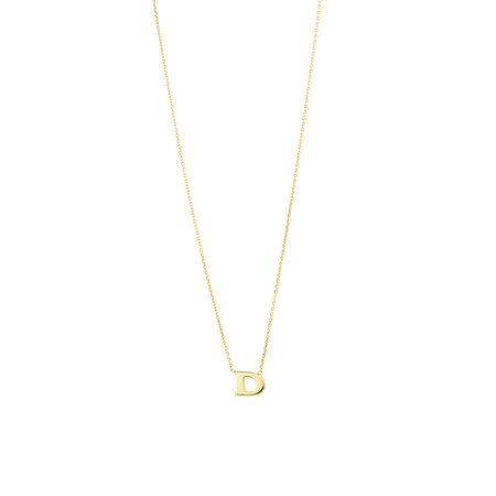 """""""D"""" Initial Necklace in 10kt Yellow Gold"""
