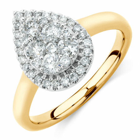 Engagement Ring with 3/4 Carat TW of Diamonds in 10kt Yellow & White Gold