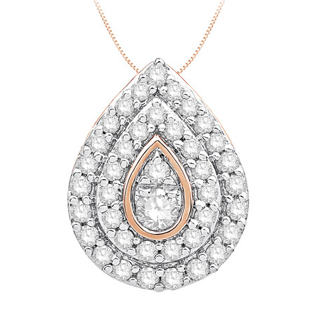 Pendant with 0.20 Carat TW of Diamonds in 10kt Rose Gold