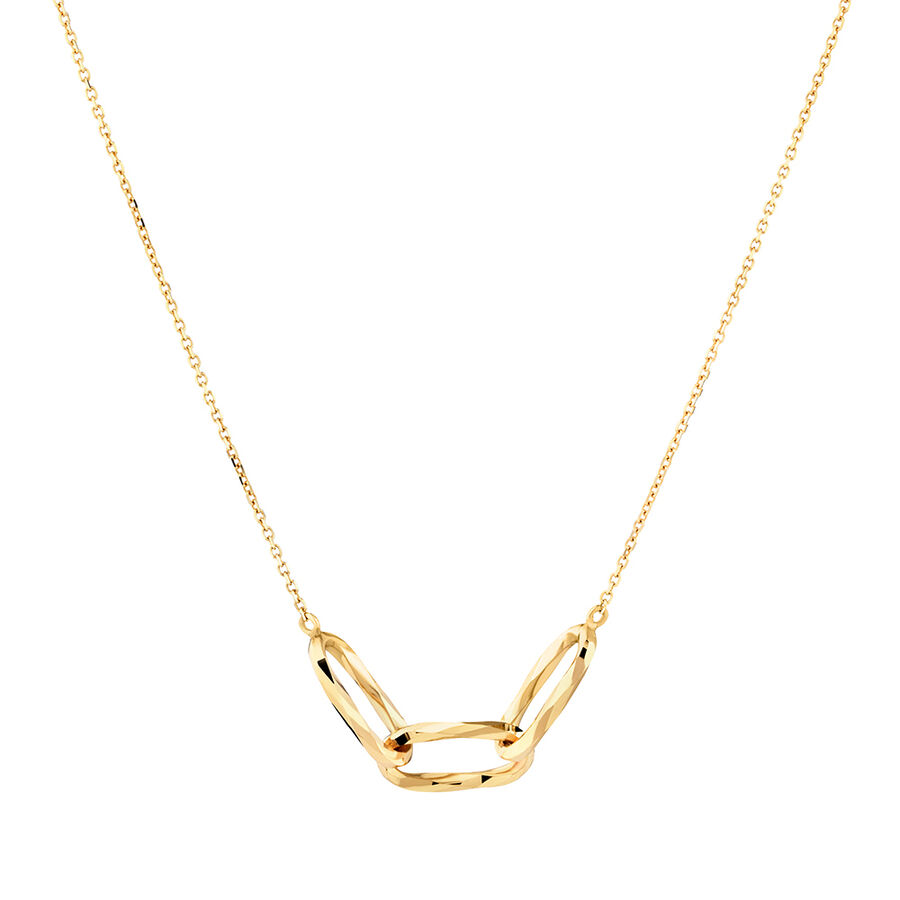 Link Necklace in 10kt Yellow Gold