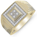 Ring with 0.25 Carat TW of Diamonds in 10kt Yellow Gold