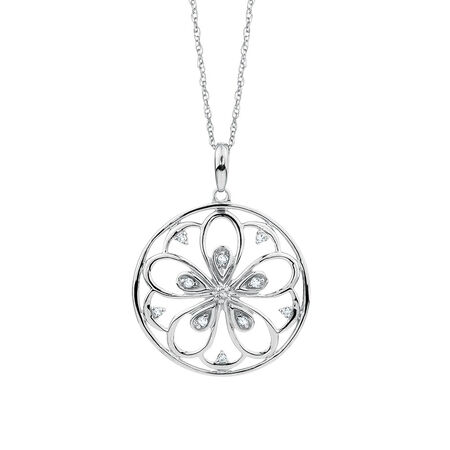 Online Exclusive - Pendant with Diamonds in Sterling Silver