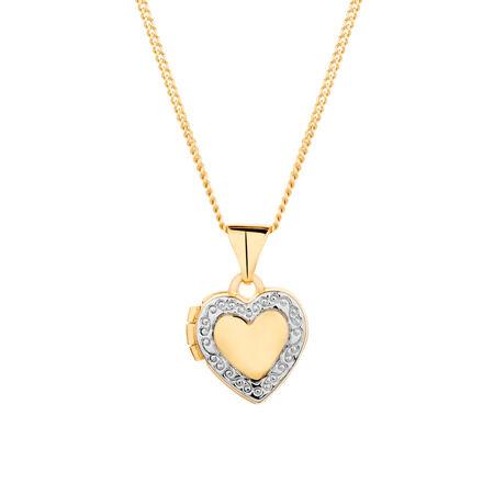Heart Locket in 10kt Yellow Gold