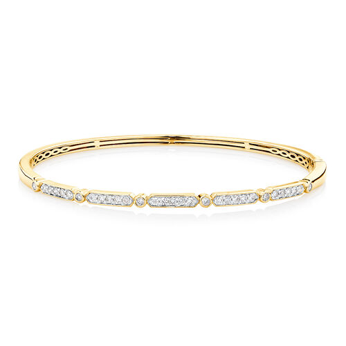 Bangle with 1/2 Carat TW of Diamonds in 10kt Yellow Gold