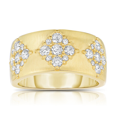 Fancy Ring with 0.90 Carat TW of Diamonds in 14ct Yellow Gold
