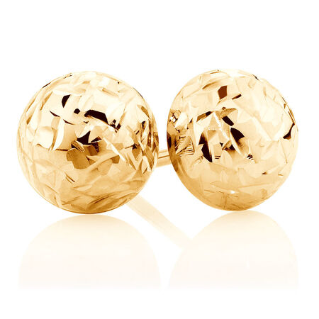 7mm Stud Earrings in 10kt Yellow Gold