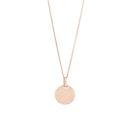 Small Round Disc Pendant in 10kt Rose Gold