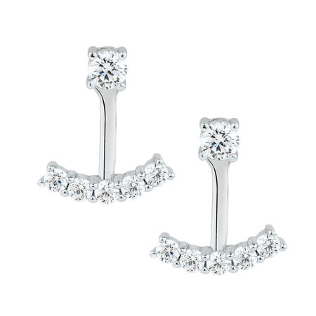 Stud Earrings & Earring Enhancers with Luxe Cubic Zirconia in Sterling Silver