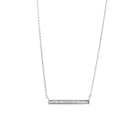 Necklace with Glitter Bar in Sterling Silver