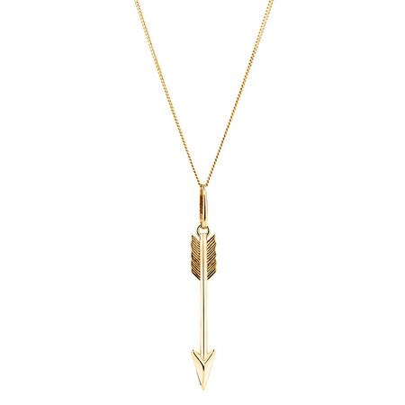 Arrow Pendant in 10kt Yellow Gold