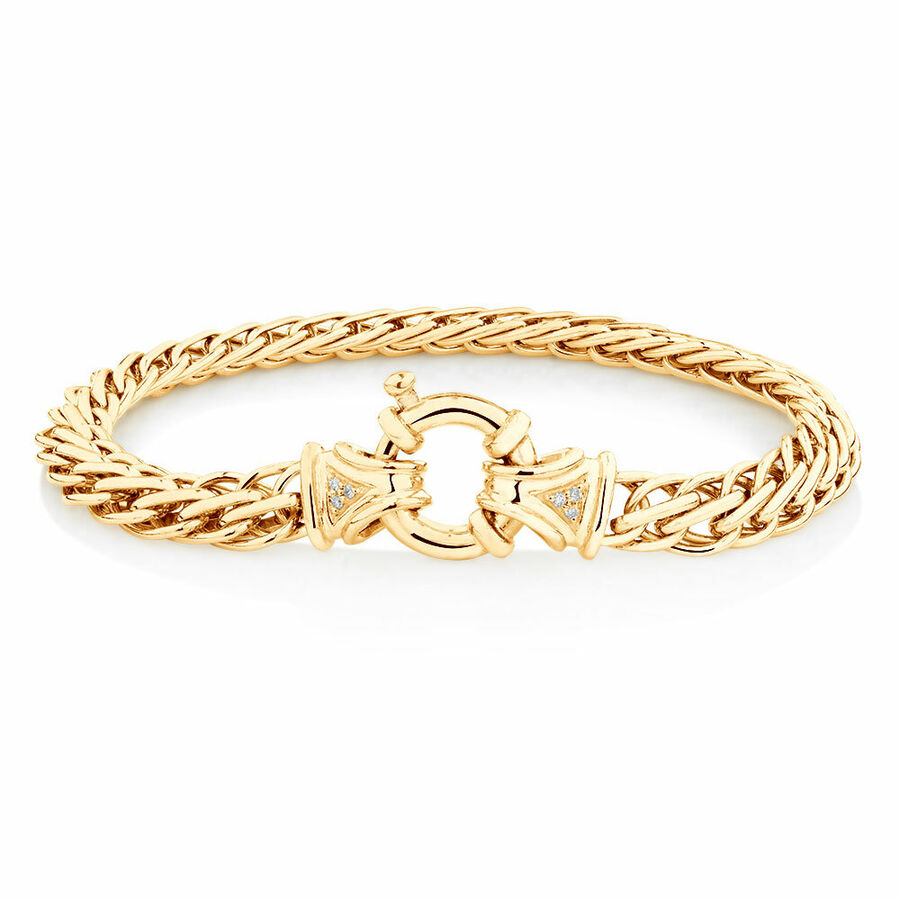Fishbone Bracelet in 10kt Yellow Gold