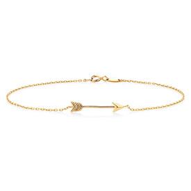 """21cm (8"""") Arrow Bracelet in 10kt Yellow Gold"""