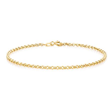 """17cm (7"""") Hollow Belcher Bracelet in 10kt Yellow Gold"""