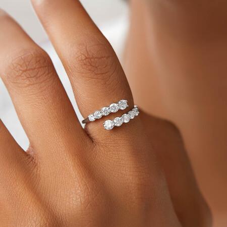 Laboratory-Created 1 Carat TW Diamond Ring in 10ct White Gold