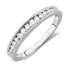 Wedding Band with 1/4 TW of Diamonds in 14kt White Gold
