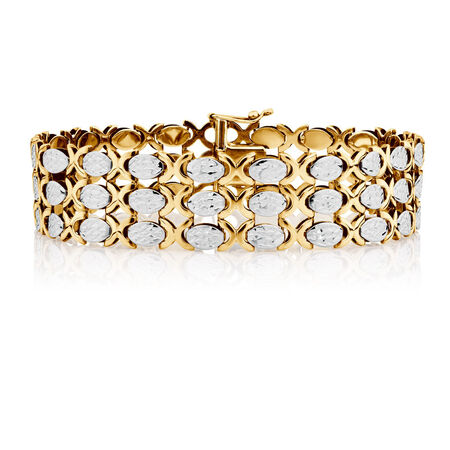 "19cm (7.5"") Bracelet in 10kt Yellow & White Gold"