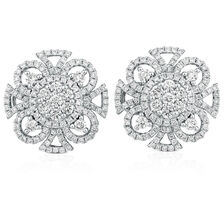 Stud Earrings with 1.53 Carat TW of Diamonds in 14kt White Gold
