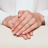 Sir Michael Hill Designer GrandAdagio Engagement Ring with 1.18 Carat TW of Diamonds in 14kt White Gold