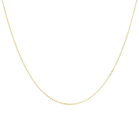 50cm Bead Chain in 10kt Yellow Gold