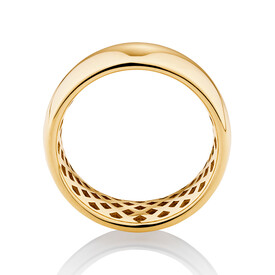 8mm Barrel Ring in 10kt Yellow Gold