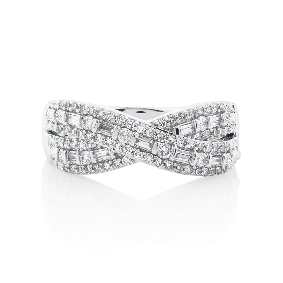 Ring with 0.50 Carat TW Of Diamonds in 10kt White Gold