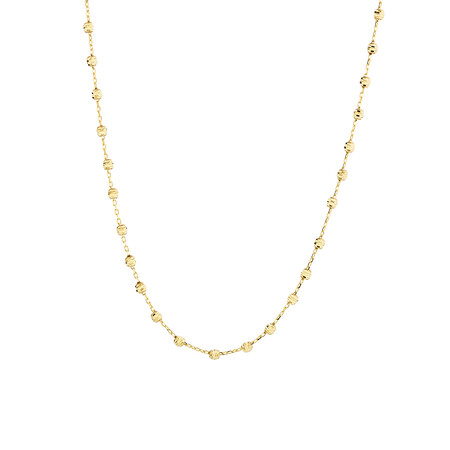 """45cm (18"""") Beaded Chain in 10kt yellow Gold"""