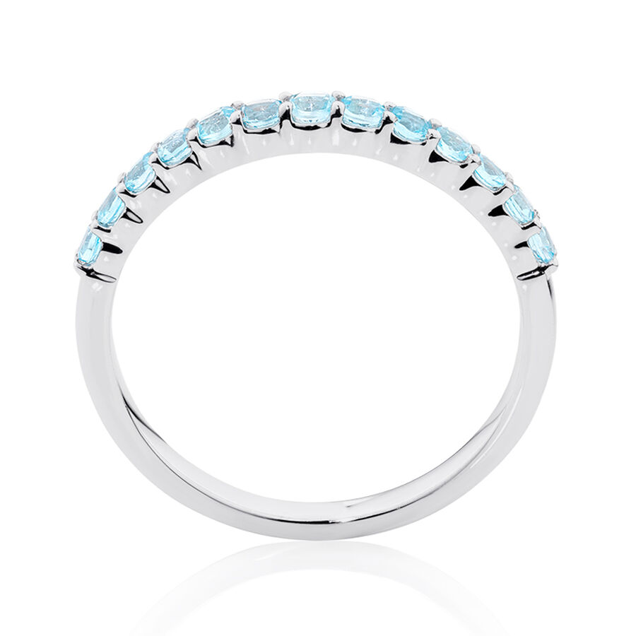 Stacker Ring with Topaz in Sterling Silver