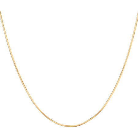 """40cm (16"""") Snake Chain in 10kt Yellow Gold"""