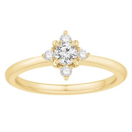 Ring with 0.40 Carat TW of Diamonds in 14kt Yellow Gold