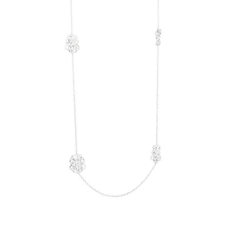 Fancy Loop Necklace in Sterling Silver