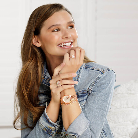 Bracelet with 1/4 Carat TW of Diamonds in 10kt Rose Gold